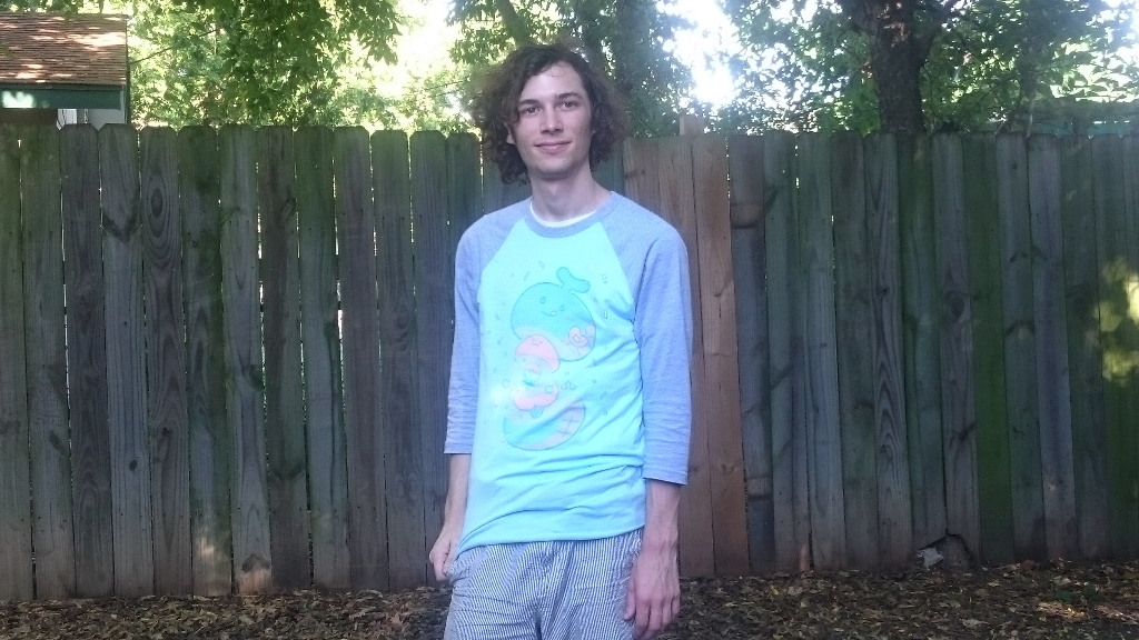 A photo of Troy Grooms. The shirt is by an artist called Punimelt.